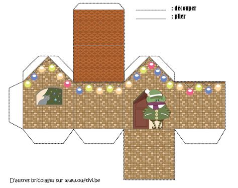 Bricolage   Maison de Noël 1   OUFtivi