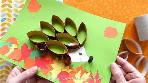 Bricolage récup    hérisson d automne en rouleaux de ...