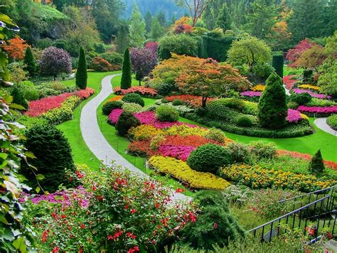 Butchart Gardens, Victoria, Canada, in Autumn  by ...