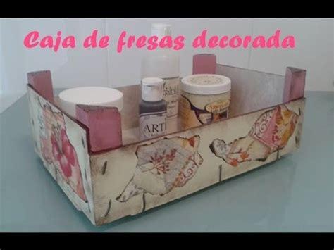 Caja de fresas decorada   YouTube