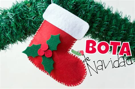 Calcetín de Navidad en fieltro   Manualidades Infantiles