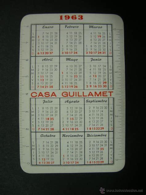 calendario 1963   casa guillamet, maquinas y mu   Comprar ...