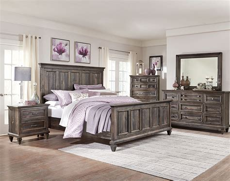Calistoga 8 Piece King Bedroom Package   Weathered ...