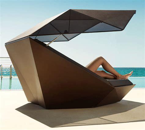 Cama chill out con parasol de jardín Daybed de lujo en ...