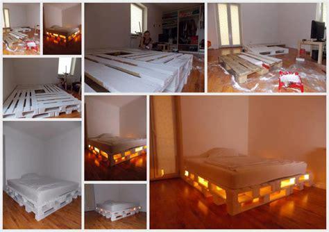 Camas iluminadas con Palets de Madera | Construccion y ...