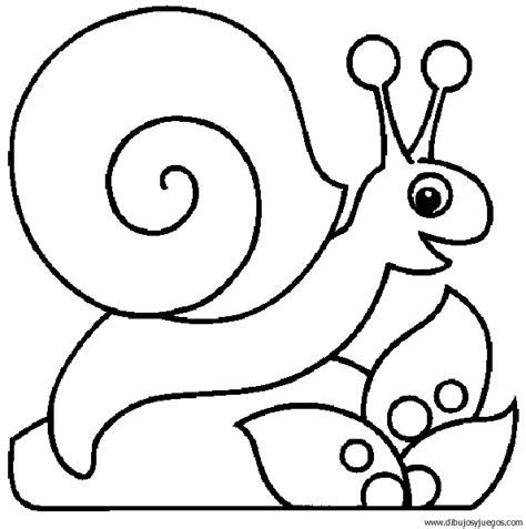 caracol 02   Dibujos y juegos, para pintar y colorear