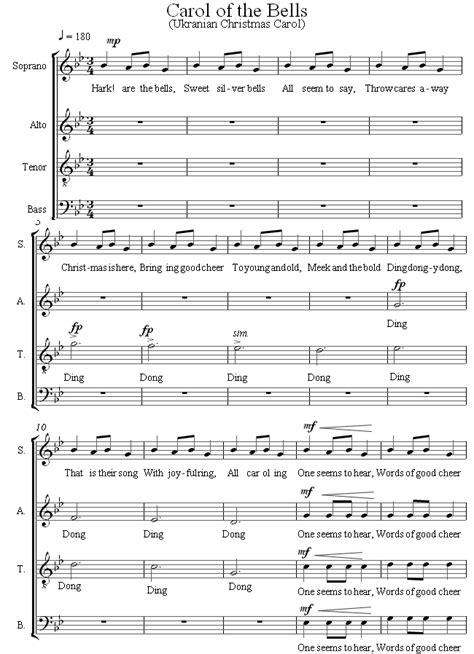 Carol of the Bells sheet music for Choir   8notes.com