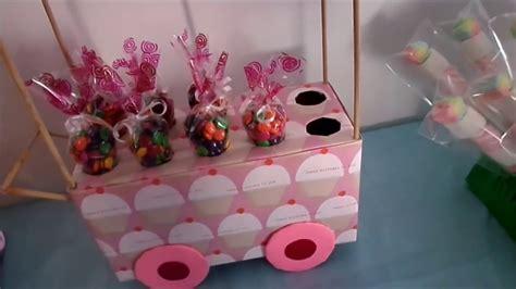 carrito exhibidor de dulces DIY  MESA DE POSTRES O DULCES ...