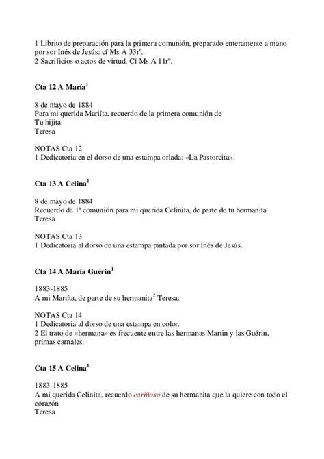 Cartas santa teresita de lisieux