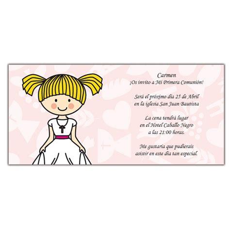 Carte d'Invitation Communion Fille