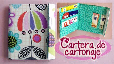 Cartera de tela y cartón reciclado   Wallet fabric and ...