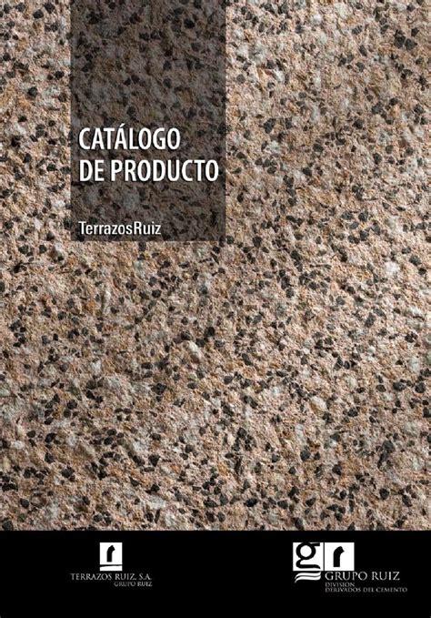 Catálogo de producto TERRAZOS RUIZ by Terrazos Ruiz   issuu