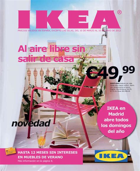 Catalogo Ikea de muebles de terraza y jardín 2012 by ...