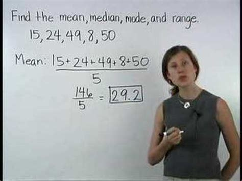 Central Tendency   Mean Median Mode Range   MathHelp.com ...