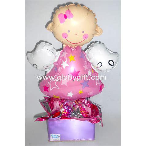 Centro de mesa con globos para baby shower, bautizo en ...