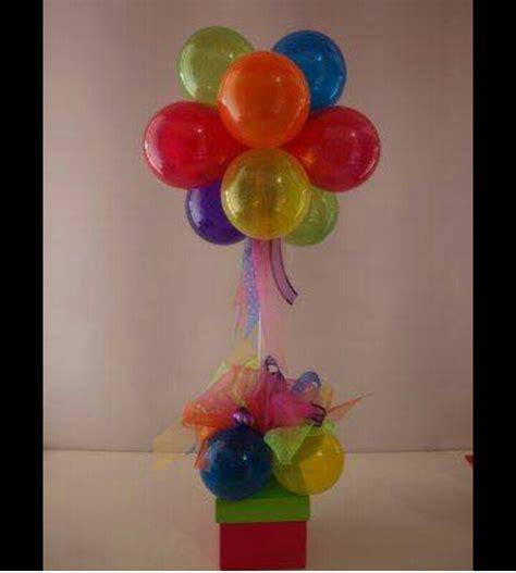 Centro de mesa, regalo, premio, caja con globos para ...