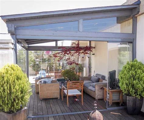 Cerramientos de terrazas en madera y aluminio. Cortinas de ...
