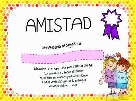 Certificado En Tarjetas de Amistad Para Imprimir ...