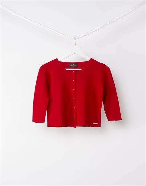 Chaqueta corta punto roja   Punto   Mujer | Roberto Verino