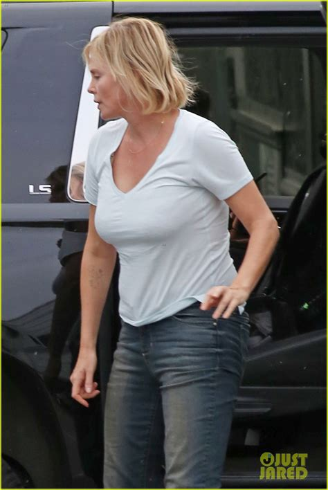 Charlize Theron Hits the Park While Filming  Tully : Photo ...