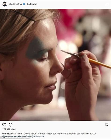 Charlize Theron posts a trailer on Instagram for Tully ...