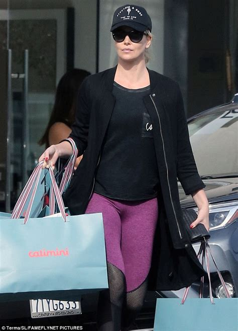 Charlize Theron showcases weight loss in Beverly Hills ...