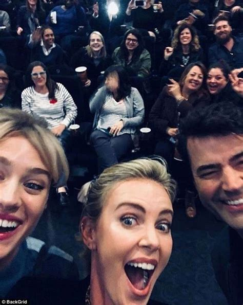Charlize Theron surprises moms at screening of new movie ...