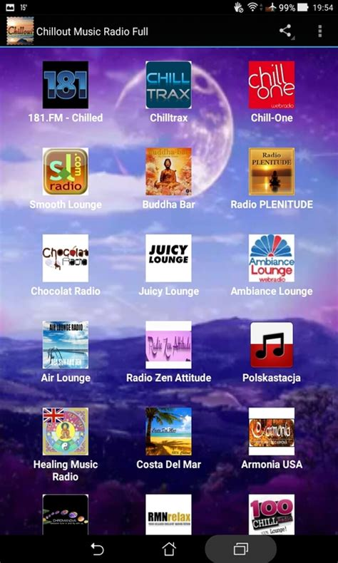 Chillout Music Radio Full free android app   Android Freeware