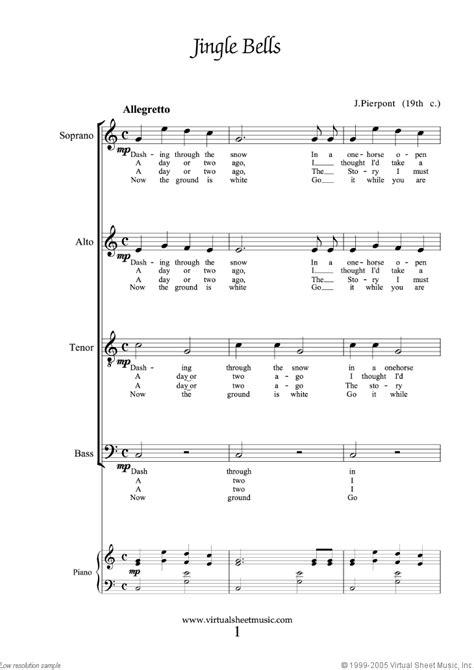 Choir and Piano Christmas Sheet Music Carols