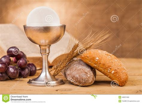 Chrystian holy communion stock image. Image of eucharist ...