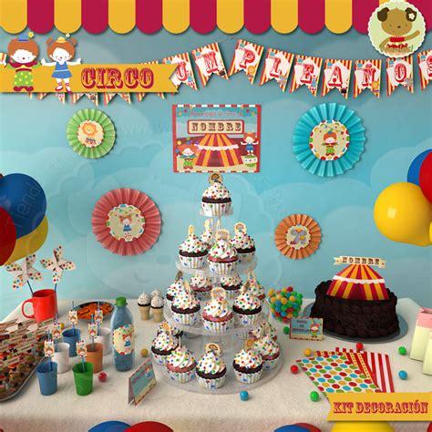 Circo   Kit Decoracion Fiesta Imprimible