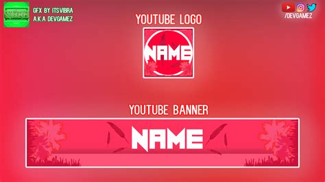 Clean/Chill, Red colored YouTube Banner And Logo! by ...
