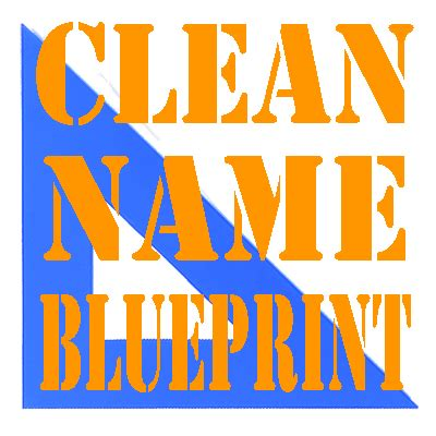 Clean Name Blueprint (@CleanName) | Twitter