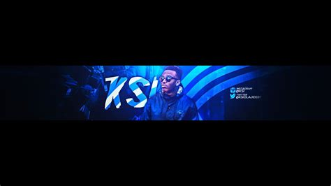 CLEAN Youtube Banner For KSI  Youtube Banner HD
