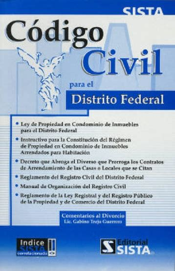 Codigo civil para el distrito federal   9789686816174