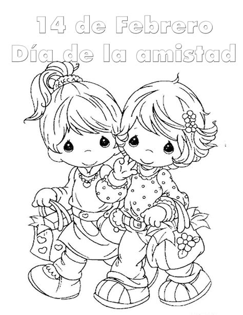Coloreando dibujos bonitos del Día del Amor y la Amistad ...
