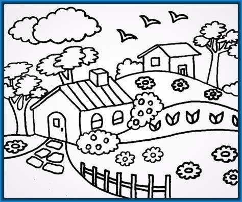 colorear paisajes infantiles Archivos | Dibujos para Dibujar