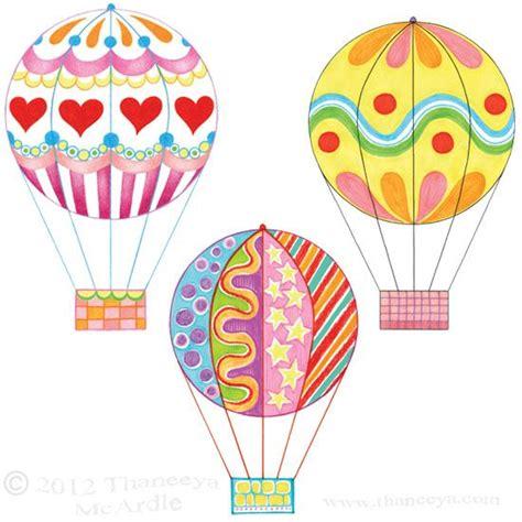 Colorful Hot Air Balloon Drawings by Thaneeya | Drawing ...