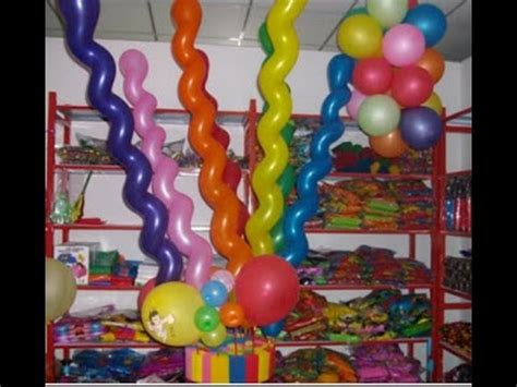 como adornar con globos largos   YouTube