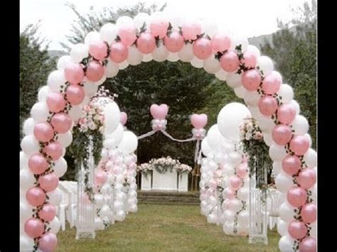 como adornar con globos para boda   YouTube
