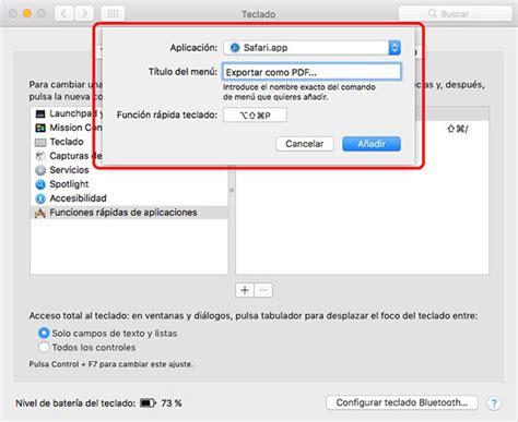 Cómo añadir un atajo de teclado para exportar como PDF en ...