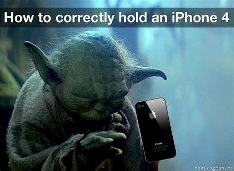 Cómo coger un iPhone 4