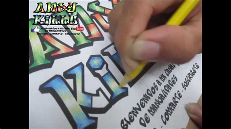 Como colorear letras estilo graffiti   YouTube