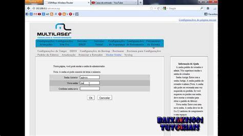 Como Configurar Roteador Multilaser Wireless Wifi   YouTube