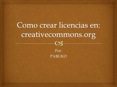 Como crear licencias en creative commons