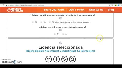 Cómo crear una Licencia Creative Commons   YouTube