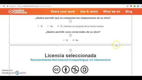 Cómo crear una Licencia Creative Commons   YouTube