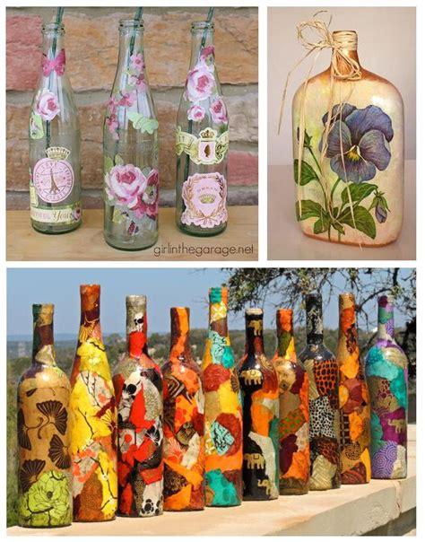 Cómo decorar botellas de vidrio con servilletas   5 pasos
