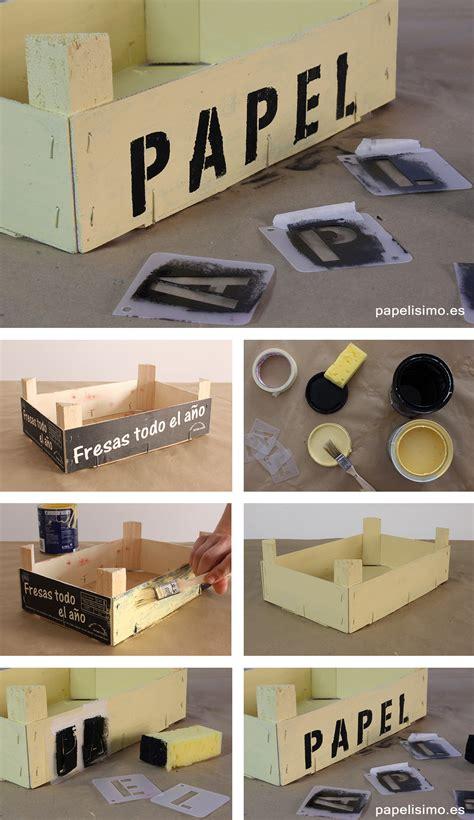 Cómo decorar cajas de fruta   PAPELISIMO