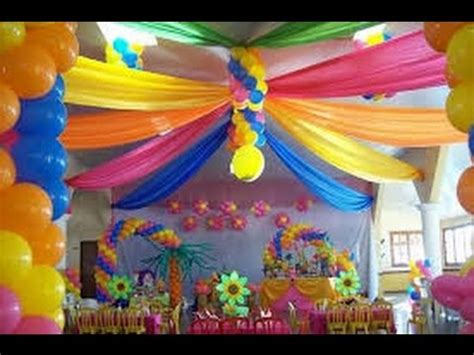 COMO DECORAR CON GLOBOS   YouTube